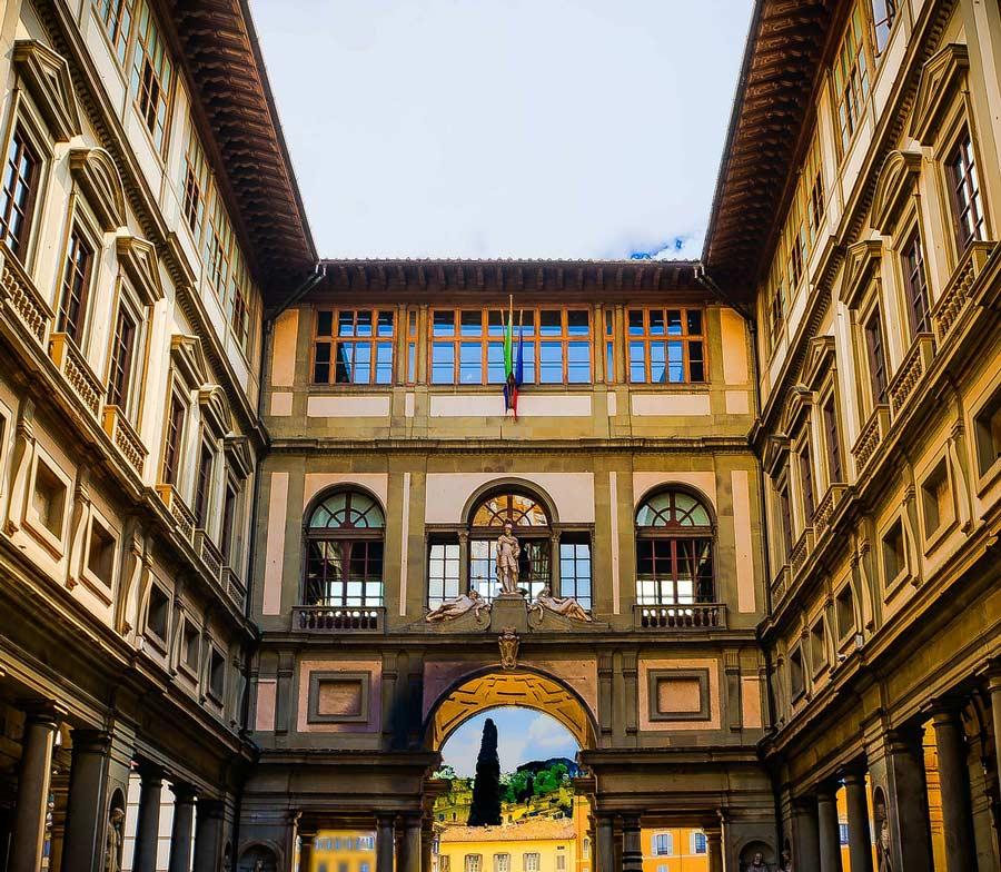 Florens sevärdheter - Uffizi
