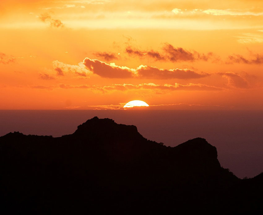 Golf på Teneriffa - Solnedgång