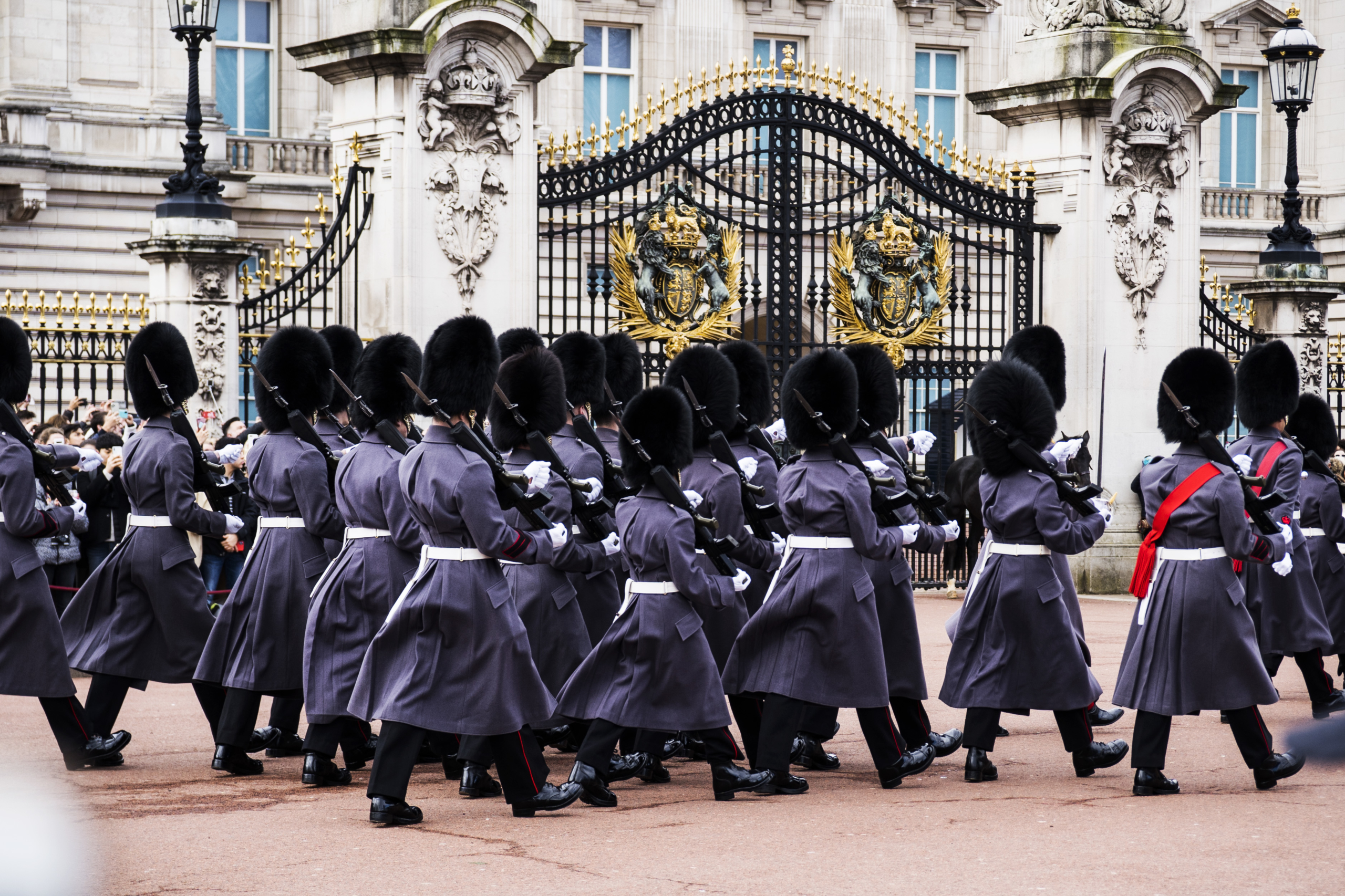 Vaktbyte vid Buckingham Palace