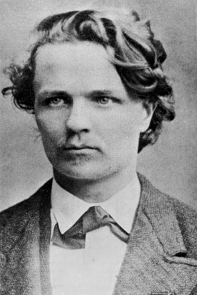 August Strindberg, 1875.
