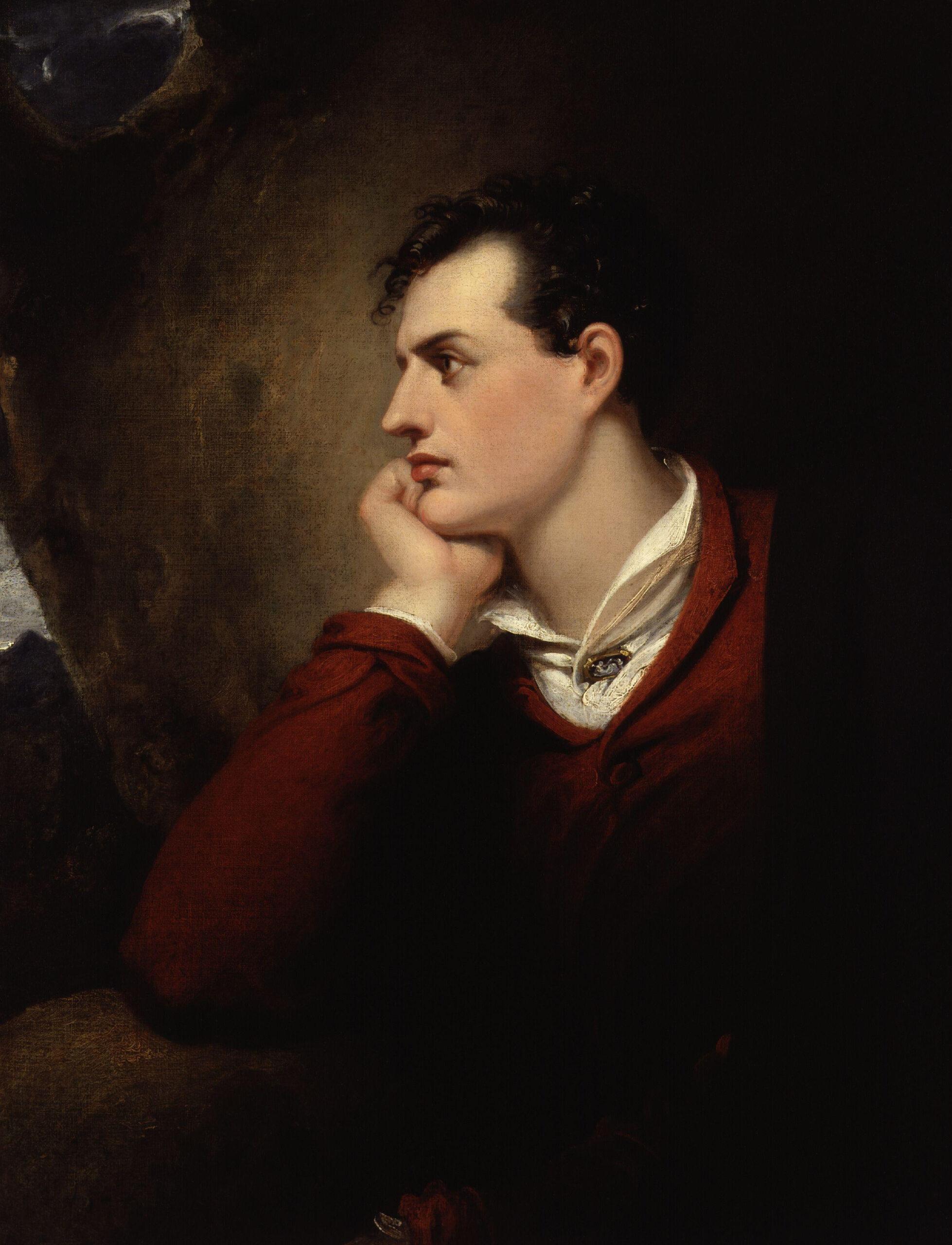 George Gordon Byron, 6th Baron Byron, porträtt av konstnären Richard Westall.