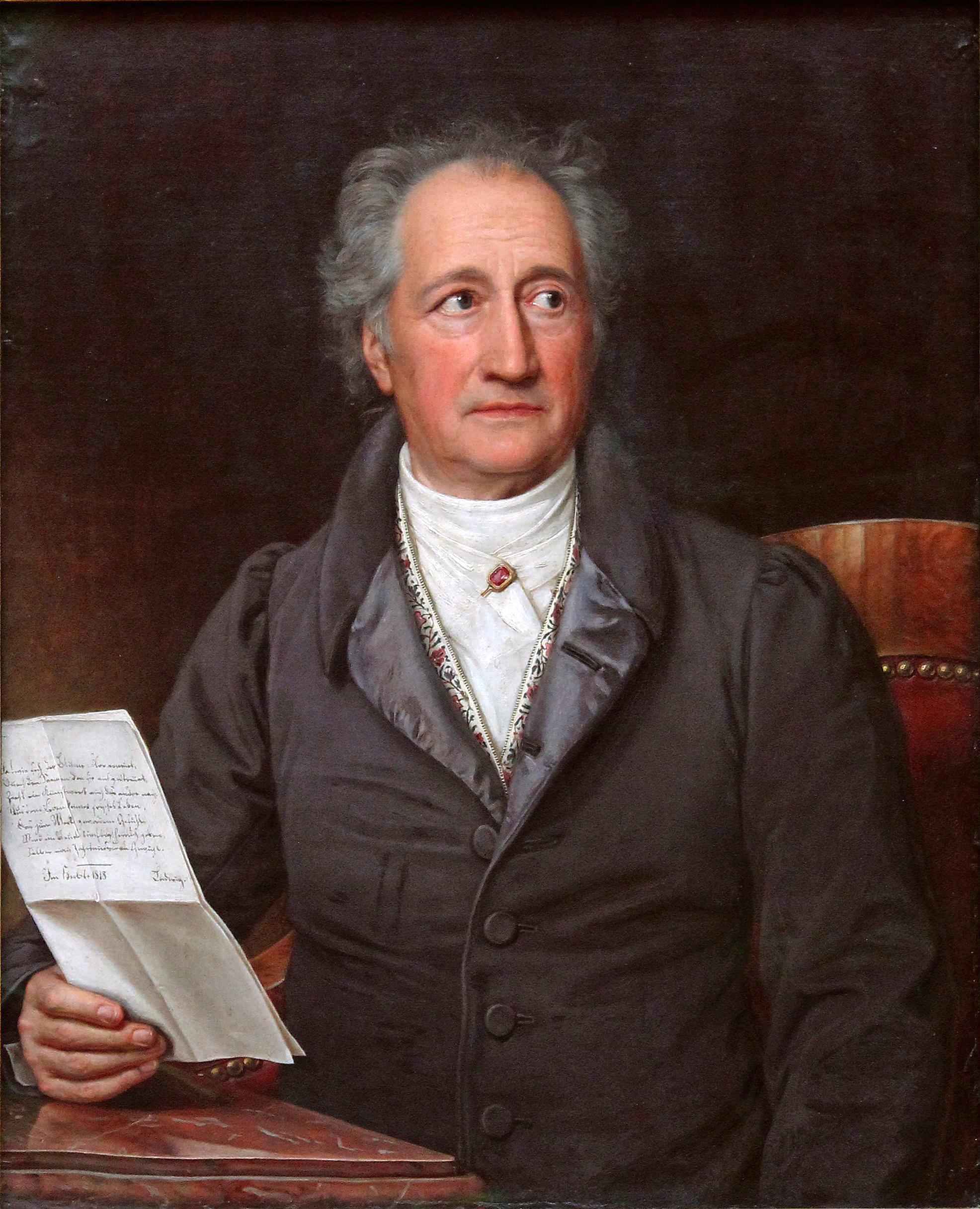 Johann Wolfgang von Goethe, porträtt målat av konstnären Joseph Karl Stieler