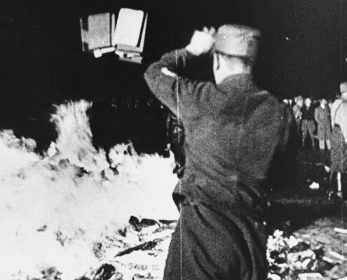 Bokbålet i Berlin 1933.